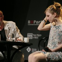Paweł Huelle i Dorota Masłowska | fot. Bernie Kramer