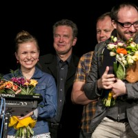 Dorota Masłowska, Bogdan Ciosek, Jacek Cieślak, Wiktor Rubin | fot. Bernie Kramer